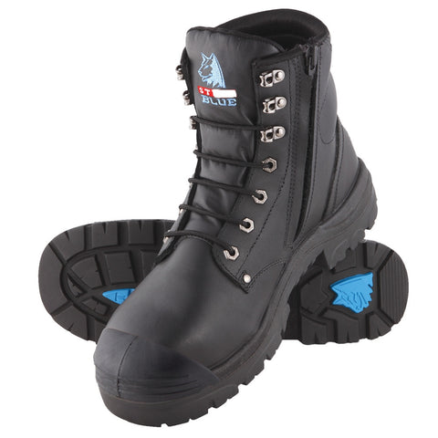 019365ab888 Steel Blue Argyle S/Zip Safety Boot with Bump Cap #332152