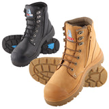 Steel Blue Argyle S/Zip Safety Boot with Bump Cap #332152