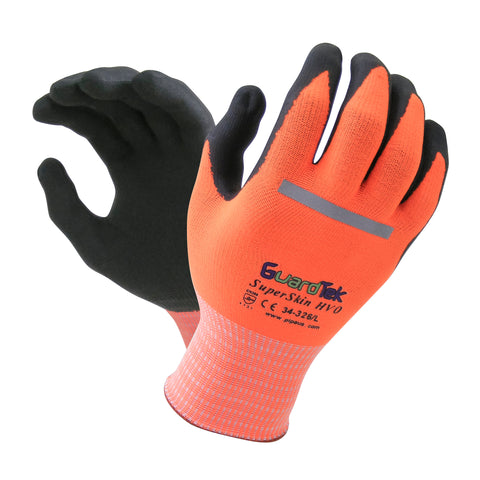 GuardTek Hi-Vis SuperSkin Gloves # 34-326
