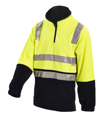 Workit Hi-Vis 2-Tone 1/2 Zip Polar Fleece Jumper c/w 3M Reflective Tape #3501