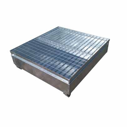 Galvanised Metal 4 Drum Bund