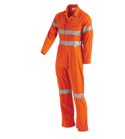 Workit Coolkit Hi Vis Orange Coverall c/w 3M Reflective Tape #4001