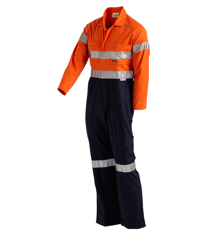 Workit Standard 2 Tone Coverall with Tape #4004