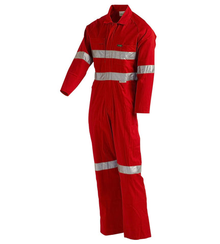 Workit Coolkit Red Coverall with Tape #4003