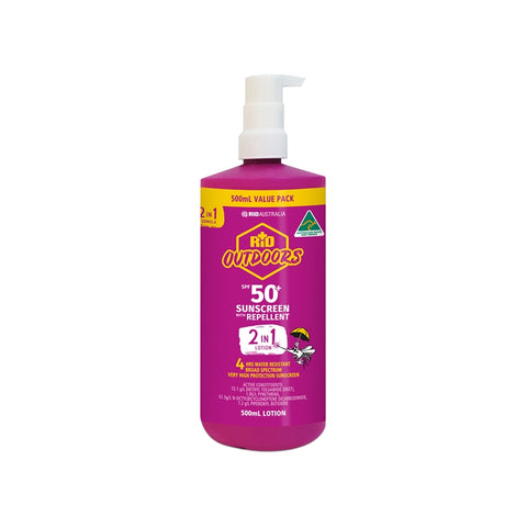 RID Outdoors Combo 500ml Pump Lotion