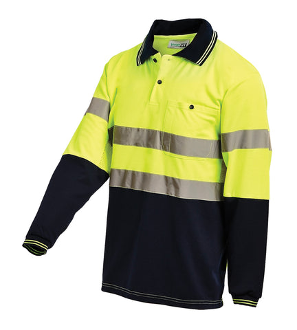 Workit Hi Vis 2 Tone L/S Polo Shirt #5004T