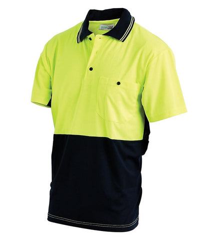 Workit Hi Vis 2 Tone S/S Polo Shirt #5005