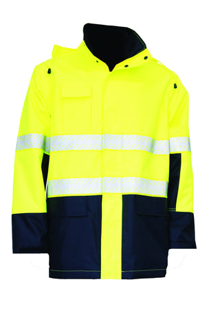 KM Workwear Hi Vis 2 Tone Lighweight Breathable Jacket c/w 3M Segmented Reflective Tape M5131T