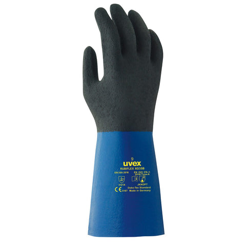 Uvex Rubiflex S XG35B Chemical Protection Glove