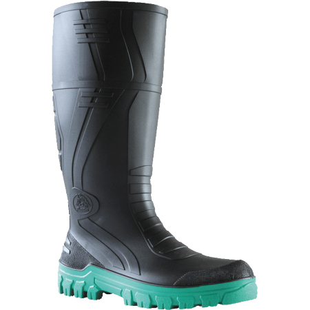 Bata Jobmaster 3 BlackGreen PVC 400mm Non Safety Gumboot #892-67280