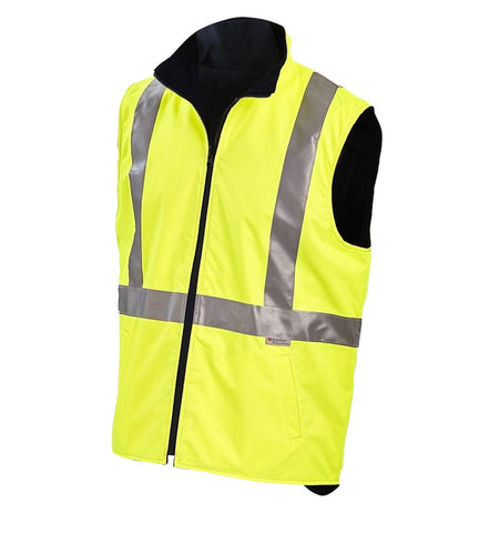 Workit Hi-Vis Reversible Vest c/w 3M Reflective Tape #7501