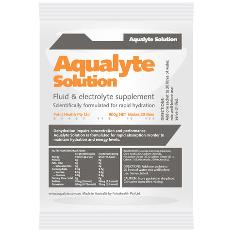 Aqualyte Orange Citrus 800g Sachets