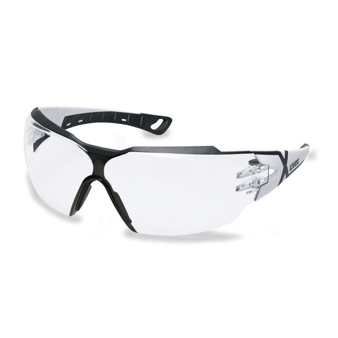 Uvex Pheos CX2 Spectacles White/Grey Frame (Clear Lens) 9198-202