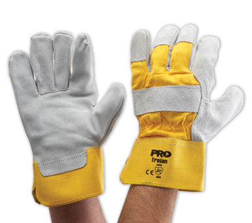 Pro Choice Yellow Grey Leather Glove 940GY