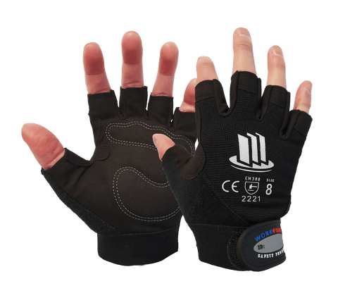 Workforce Medium Duty Fingerless Mechanics Glove
