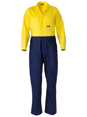 Bisley 2 Tone Hi Vis Regular Weight Coveralls #BC6357