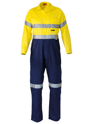 Bisley 2 Tone Hi Vis Lightweight Coveralls c/w 3M Reflective Tape #BC6719TW