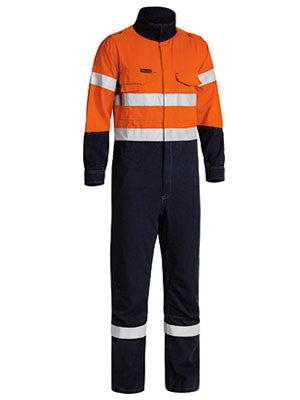 Bisley TenCate Tecasafe® Plus Taped 2 Tone Hi Vis FR Engineered Vented Coverall #BC8086T