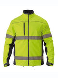 Bisley Hi Vis 2 Tone Soft Shell Jacket c/w 3M Reflective Tape #BJ6059T