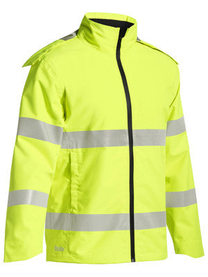 Bisley Taped Hi Vis Lightweight Ripstop Rain Jacket #BJ6927T