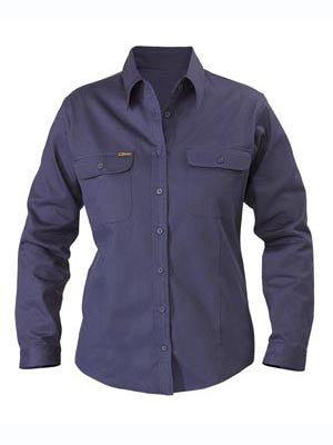 Bisley Women's Cotton Drill Shirt #BL6339