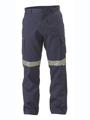 Bisley 8 Pocket Cargo Pant c/w 3M Reflective Tape #BPC6007T