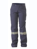 Bisley Womens Original Cotton Drill Work Pants c/w 3M Reflective Tape #BPL6007T