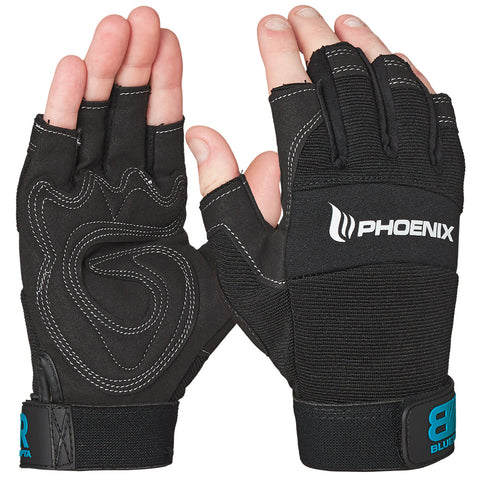 Blue Rapta Pheonix Fingerless Mechanics Glove