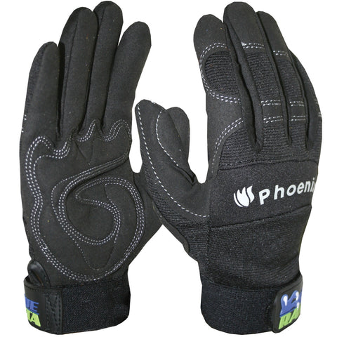 Blue Rapta Pheonix Full Finger Mechanics Glove
