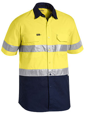 Bisley 3M Taped Hi Vis X Airflow™ Ripstop Short Sleeve Shirt #BS1415T