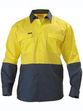 Bisley Hi Vis 2 Tone Long Sleeve Drill Shirt #BS6267