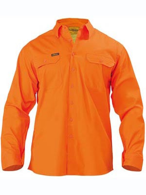 Bisley Hi Vis Cool Lightweight Drill Shirt #BS6894