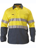 Bisley Hi Vis 2 Tone Cool Vented Taped Long Sleeve Drill Shirt #BS6896