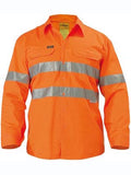 Bisley Hi Vis Cool Lightweight Long Sleeve Drill Shirt #BS6897