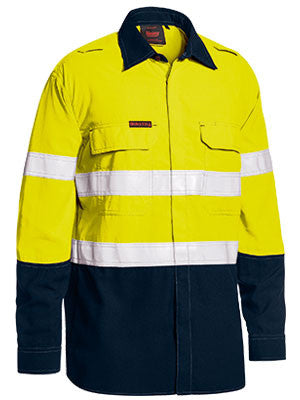 Bisley TenCate Tecasafe® Plus Taped Two Tone Hi Vis FR Lightweight Long Sleeve Vented Shirt #BS8237T