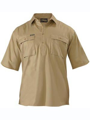 Bisley Closed Front Cotton Drill Short Sleeve Shirt #BSC1433