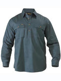 Bisley Closed Front Cotton Long Sleeve Drill Shirt #BSC6433