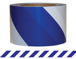 Barrier Tape Blue/White 100m x 75mm (Blue/White) TAPEBBW100X75