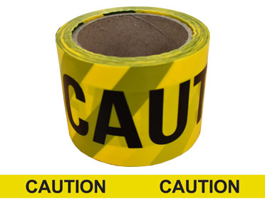 "Barrier Tape ""Caution"" 100m x 75mm (Yellow) BTCY100X75"