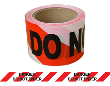 "Barrier Tape ""Danger Do Not Enter"" 100m x 75mm (Red/Black/White) BTDDNE100X75"