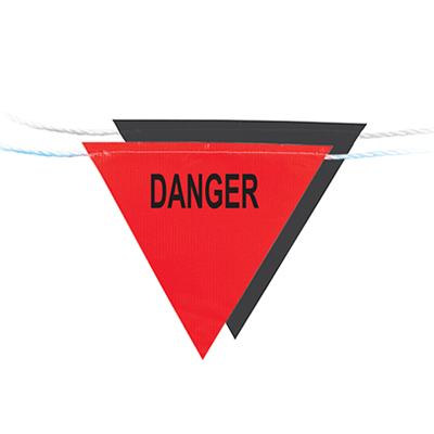 Flag Bunting 30m (Danger) Red/Black