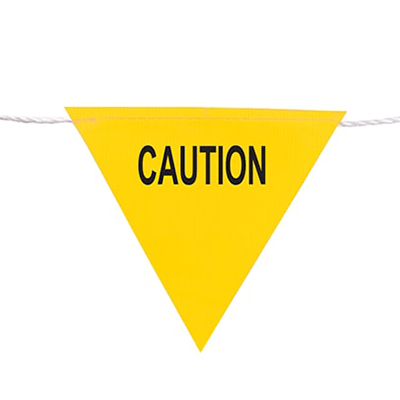 Flag Bunting 30m (Caution) Yellow