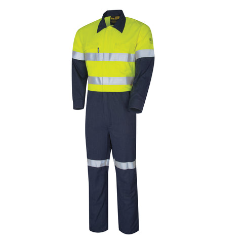 Bool Coveralls Parvotex® Inherent Fire Retardant Two Tone with Loxy® FR Reflective Tape BW2570T1