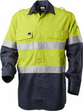Bool Shirt Parvotex® Inherent Fire Retardant Two Tone L/S c/w Loxy® FR Tape HRC2  BW2590T1