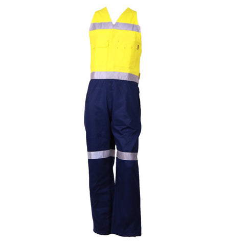Tru Workwear - Heavyweight Coveralls 320gsm Actionback Two Tone Cotton Drill with 3M Reflective Tape #DC2179T