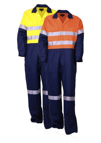 Tru Workwear Regular Weight Cotton Drill Coveralls c/w 3M Reflective Tape
