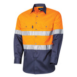 Tru Workwear Lightweight 2 Tone Hi Vis Taped Shirt DS2166T1