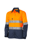 Tru Workwear Ladies Cool Performance L/S Shirt Two Tone Shirt c/w 3M Reflective Tape DSW2166T1
