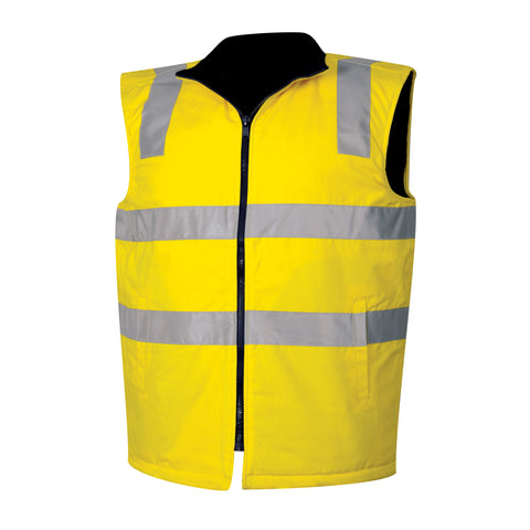 Tru Workwear Cotton Canvas	Vest c/w 3M Reflective Tape DV1193T1