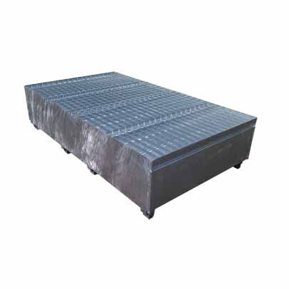 Galvanised Metal Double IBC Bund